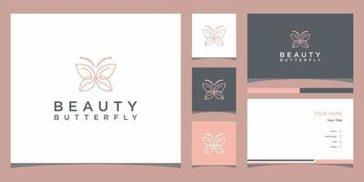 boterachtige logo sjablonen en visitekaartje ontwerp premium vector