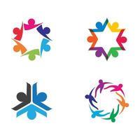 teamwork logo afbeeldingen vector