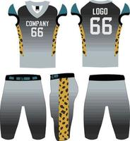 custom design american football uniformen illustratie sjabloon