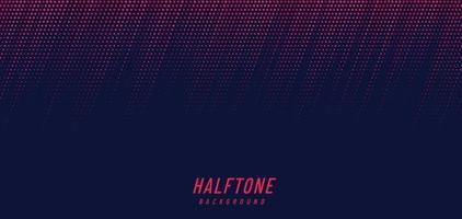 abstracte roze en rode diagonale halftone textuur op donkerblauwe achtergrond met exemplaarruimte. modern eenvoudig puntenpatroon. vector illustratie