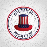 gelukkige Amerikaanse presidenten dag viering poster met hoge hoed