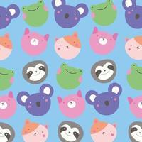 schattig klein kawaii dierlijk patroon
