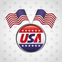 gelukkige president dag viering poster met vlag zegel stempel