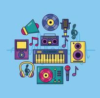 muziek kleurrijke achtergrond vector