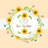 bewaar het ronde frame van de datum
