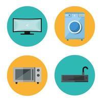 apparaten vlakke stijl pictogramserie vector