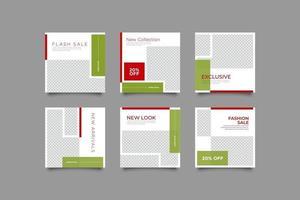 modecampagne postbundelsjabloon vector