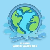 wereld water dag achtergrond.