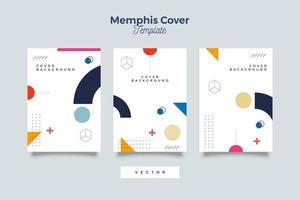 bundel van memphis-stijl covers-collectie
