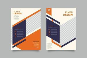 sjabloon voor zakelijke folders met abstracte vormen vector