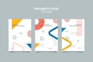 set van abstracte memphis covers collectie