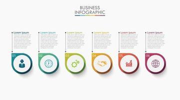 infographicspictogrammen met 6 opties vector
