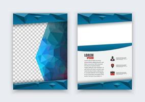 abstracte flyer ontwerp achtergrond. vector brochure folder lay-out ontwerpsjabloon, formaat a4, voorpagina en achterpagina, infographics.