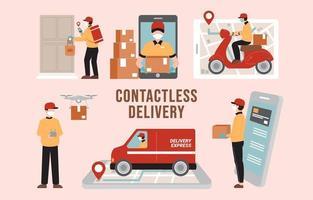 profiteren van online winkelen tijdens pandemie vector