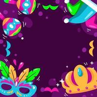 mardi gras met paarse achtergrond