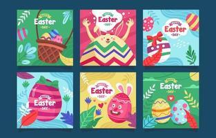 verzameling instagram-berichten voor Pasen