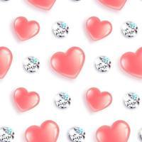 harten en diamanten patroon vector