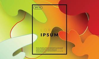 moderne trendy achtergrond neon kleurrijke geometrisch vector