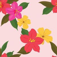 bloem schattig patroon gelast achtergrond vector