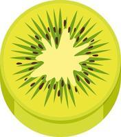 gesneden groene kiwi doormidden op witte achtergrond vector