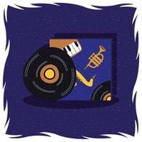 vinyl record muziek poster vector