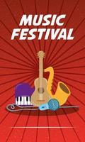 muziekfestival entertainment uitnodiging poster