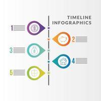 tijdlijn infographic met geldpictogrammen vector