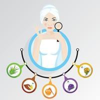 vrouw illustratie wat te doen als je winter droge huidverzorging hebt vector