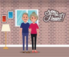 blijf thuis campagne met stel