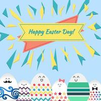 vrolijk Pasen met gelukkige eieren