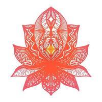 bloem lotus tattoo vector