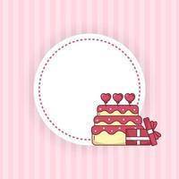 Valentijnsdag harten en cadeau-ontwerp vector