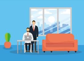 zakelijke zakenlieden op kantoor