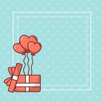 Valentijnsdag kaart ontwerp vector