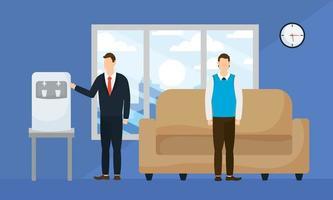 zakenlieden in een wachtkamer