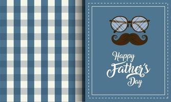 bril en snor voor vaderdagviering vector