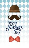 hoed en snor voor vaderdagviering vector