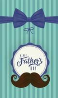 bowtie en snor voor vaderdagviering vector