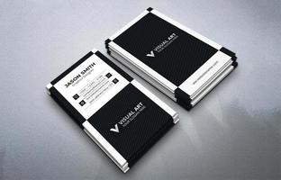 zwart-wit verticale visitekaartje set