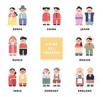 wereld traditioneel karakter. vector