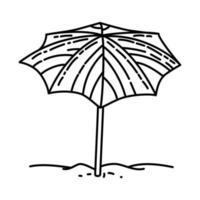 paraplu leuk pictogram. doodle hand getrokken of overzicht pictogramstijl