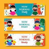 nieuwe normale banner voor studie