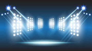 abstracte achtergrondstadionpodiumzaal met toneellichten van ronde futuristische technologie
