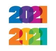 2021 jaar kleur volledig teken vector