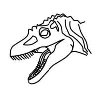 concavenator pictogram. doodle hand getrokken of zwarte omtrek pictogramstijl vector