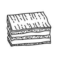 eclair pictogram. doodle hand getrokken of overzicht pictogramstijl