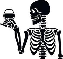stencil skelet met glas vector