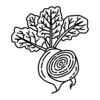 rode biet pictogram. doodle hand getrokken of overzicht pictogramstijl vector