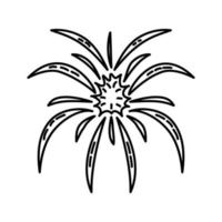 explosie pictogram. doodle hand getrokken of overzicht pictogramstijl