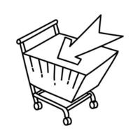 e-commerce pictogram. doodle hand getrokken of overzicht pictogramstijl